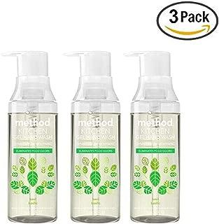 Method Odor Eliminating Kitchen Hand Wash, Basil (Pack Of 3)
