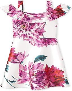 فستان للفتيات من ذا كيدز بلايس على الكتف البارد مطبوع عليه أزهار