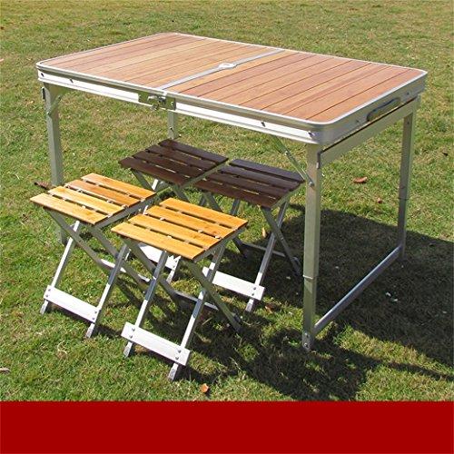 Peaceip Table pliante Table pliante extérieure et chaise Set Table de pique-nique Table de salon Table et chaise portative Table pliante en alliage d'aluminium Table de barbecue Table de pliage de bur