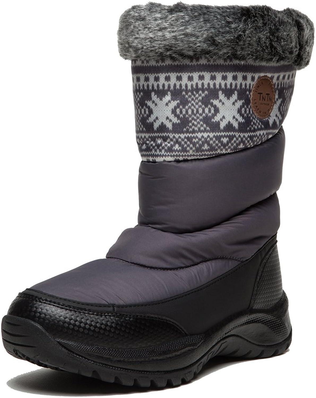 Tntn Outdoor Women's Ladies Casual Duck's Down Warm Winter Snowboots Waterproof shoes Wools Leisure Fashion
