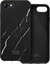 Native Union CLIC Marble Case - Handcrafted Genuine Marble Drop-Proof Protective Cover with Rubber Screen Bumper Compatibl...