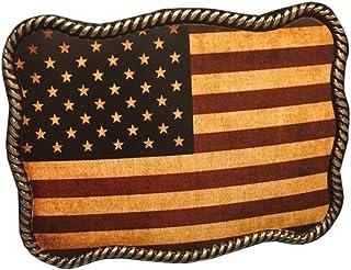 Nocona Men`s American Flag Belt Buckle