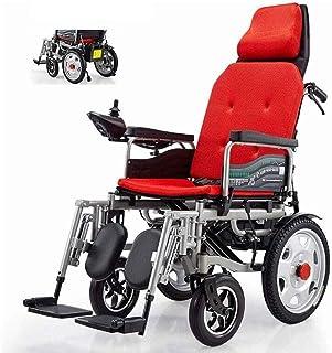 Life HS Multi-Función Silla De Ruedas Eléctrica, Respaldo Alto Reclinable Plegable Scooter De Rueda para Discapacitados Y Ancianos Herramientas De Viaje