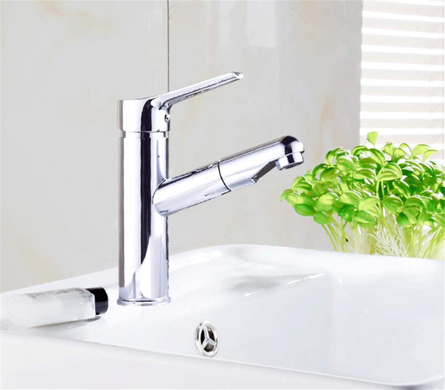 Mucert Tap,Full Copper,Cold and Hot Water,Bathroom Washbasin Faucet,D