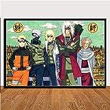 AQgyuh Puzzle 1000 Piezas Pintura de Arte de Lucha de Anime japonés clásico de Naruto Shippuden Puzzle 1000 Piezas Animales Educativo Divertido Juego Familiar para niños adultos50x75cm(20x30inch)