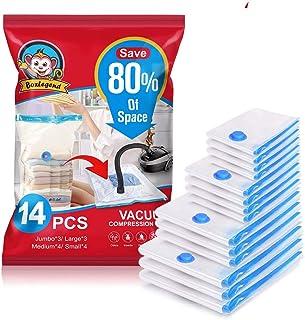 BoxLegend Sacs de Rangement sous Vide 14 Packs- 3*100x80+ 3*80x60 + 4*70x50 + 4*60x40cm, 100 Microns Housses de Rangement ...