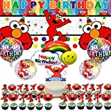 Elmo Party Supplies Decorations For Girls Boys Banner Backdrop Balloons Birthday Cake Topper