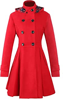 Best long red peacoat with hood Reviews