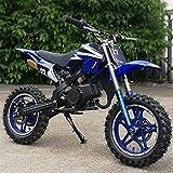 xxbao Mini Dirt Bike, 49cc Dirt Bike,Children's Bicycle, Gasoline-Powered 2-Stroke 49cc Motorcycle. (Blue) (Green) (Blue)