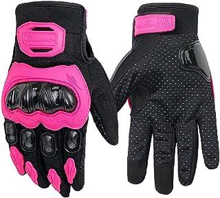 Liaiqing Winter warme Motorradreithandschuhe Vier Jahreszeiten Anti Fall Racing Handschuhe Wasserdicht Atmungs Motorrad Reiter rutschfeste Handschuhe for Männer und Frauen
