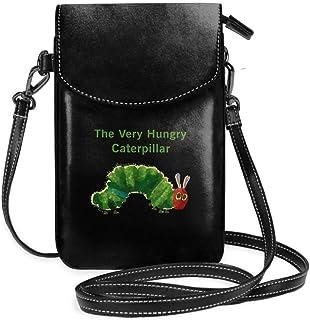 はらぺこあおむし 絵本 女性の十代の女の子のための取り外し可能なストラップ付きの軽量小型携帯電話の財布