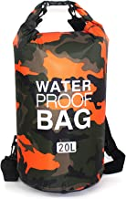 Waterproof Dry Bag 20L, Roll Top Sack Keeps Gear Dry for Kayaking, Rafting, Boating, Swimming, Camping, Hiking, Beach, Fis...