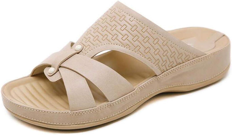 Ladies Cork Leather Slipper Women Home shoes Office Slippers Beach Summer Flip Flops Sandalias c60