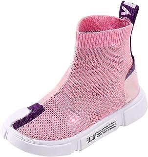 Dainzuy Toddler Baby Boys Girls Mesh Boots Sport Sneakers Socks Shoes