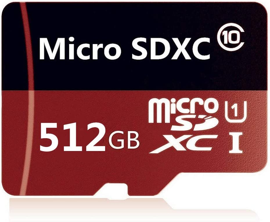 512GB Micro SD Card Class 10 High Speed Memory SDXC Card with SD Adapter for Android Smartphones,PC,Tablets