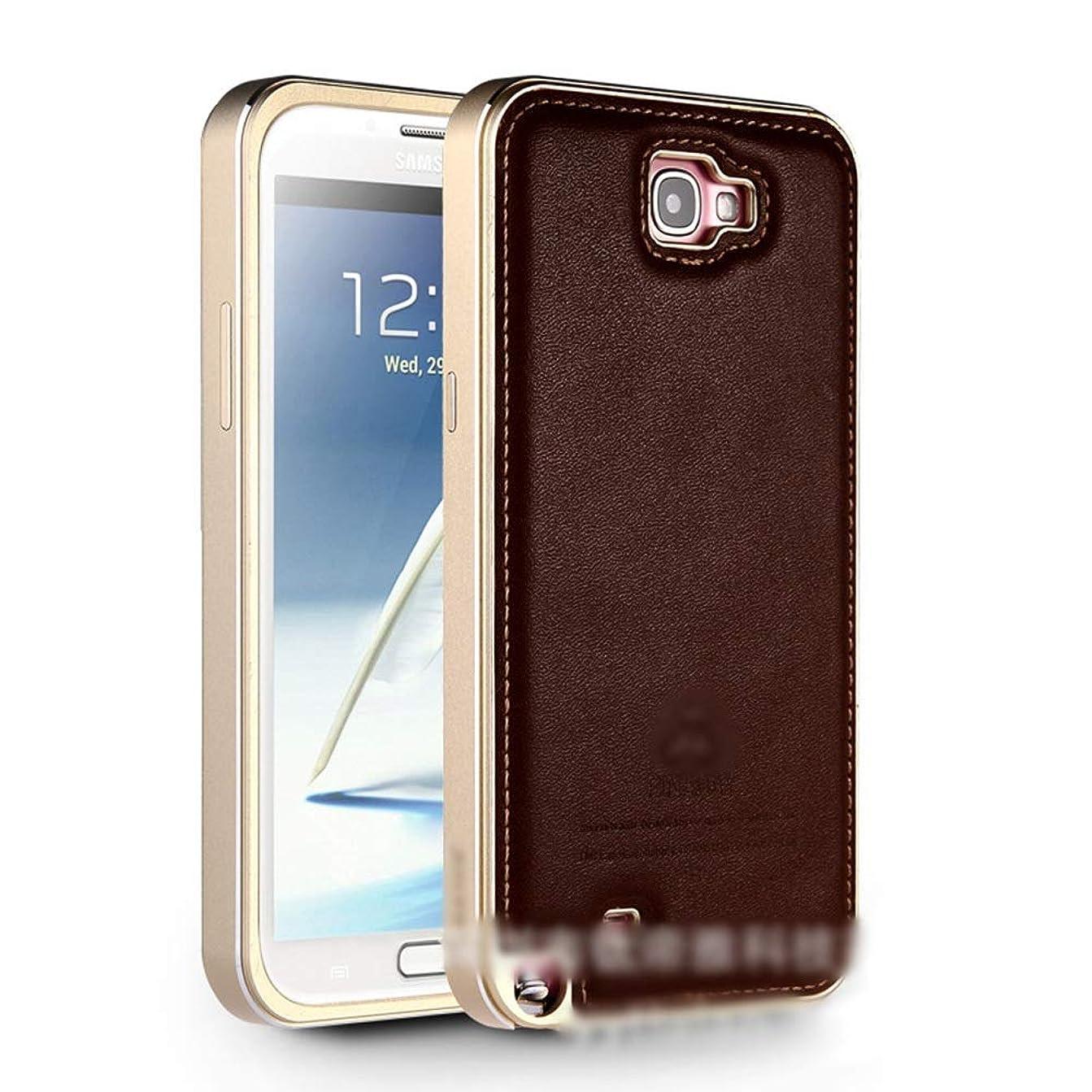 文房具グレートオークセンチメートルTonglilili 電話ケース、レザーケース飛散防止シェルサムスン注3、注4、注2、S5、S6のための新しい包括的な携帯電話保護カバー電話ケース (Color : Dark Brown, Edition : Note4)
