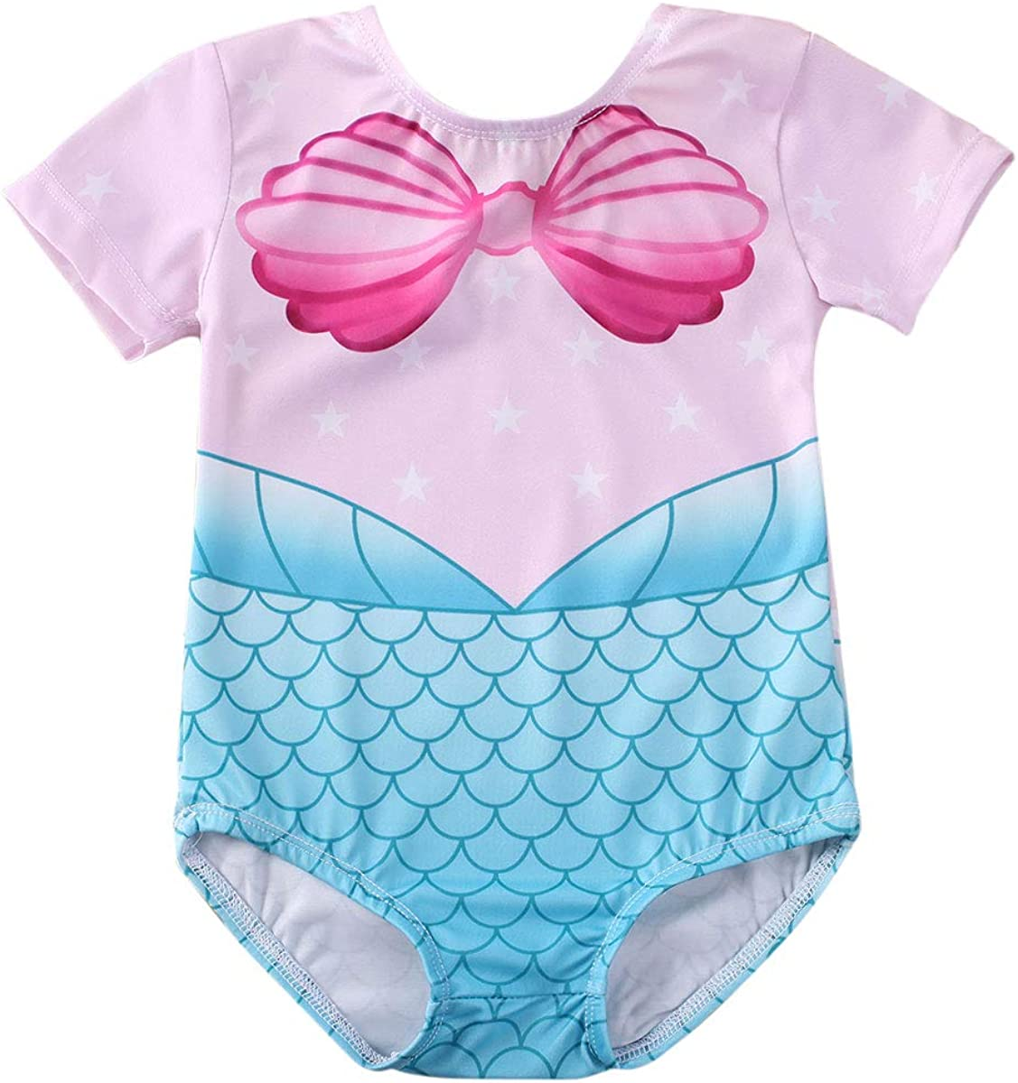 Baby Girl One Piece Swimsuit Year-end annual account Mermaid Swimwear Ruffle Infant Ranking TOP4