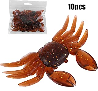 Zer one Crab Fishing Lure Kit, 10 PCS Fishing Crab Lures Artificial Bait Fishing Tackle, Artificial Plastic Soft Crab Lure 3D Simulation Freshwater Fishing Bait