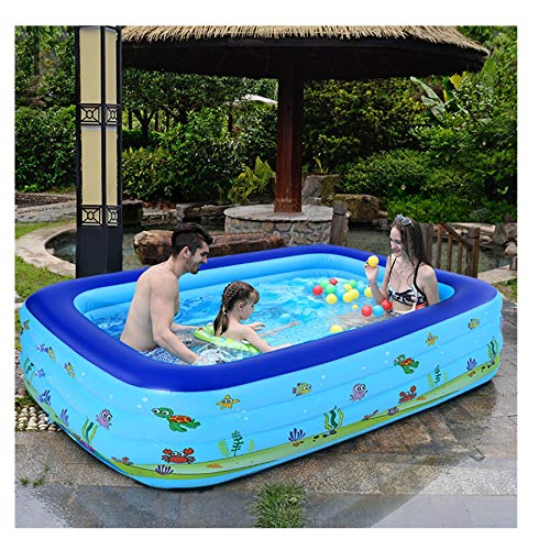 WAFamily Inflatable Swimming Pools, Inflatable Kiddie Pools, Family Swimming Pool, Swim Center for Baby, Kiddie, Kids, Adult, Toddlers, Outdoor, Garden, Backyard, (130)