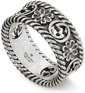 Gucci Interlocking G Silver Ring 8mm Size -8 1/4 (US) YBC577263001018