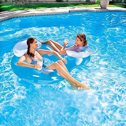 Neuer Strand Zum Sonnenbaden Schwimmendes Bett Aufblasbare Spielzeuge, Schwimmendes Bett, Doppelte Aufblasbare, Schwimmende Reihe, Schwimmbecken Für Erwachsene, Luftbett - 1,88 M * 1,17 M