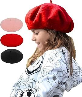 Kids Woollen Beret Warm Cap Children Costume Hat for 2-10Y Girls