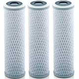 Universal 10 inch Carbon Block Water Filter Cartridge - Replacement CTO Water Purifier Filter, Activated Carbon (NSF 42 Certified) (3)