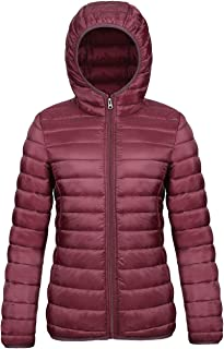 SUNDAY ROSE Packable Puffer Jacket Women Slim Fit Lightweight Quilted Jacket