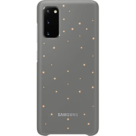 Samsung Galaxy S20 Case, Protective Smart LED Back Cover -Gray (US Version with Warranty) (EF-KG980CJEGUS)