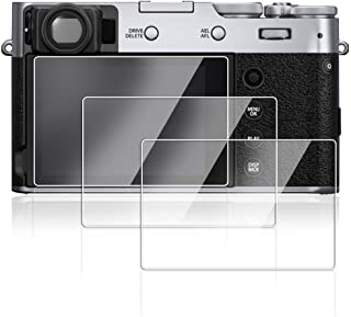 AFUNTA 3 Pack Anti-Scratch Screen Protector for Fujifilm X100V, Tempered Optical Glass 9H Invisible Protective Screen Guard for Fujifilm X100V Digital Camera