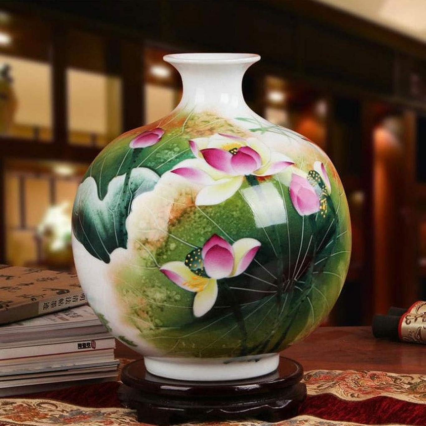成分回転させる時計回り花瓶 ロータスの花の花瓶ホームデコレーション優れた磁器景徳鎮陶磁器資本クラシックスタイルパステル磁器 インテリア フラワーベース