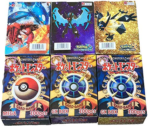 HEEHERHUO Neu in 2019: 300PCS Pokemon (195GX + 80EX + 25MEGA und 189GX + 11TRAINER + 80EX + 20MEGA), Partyspiel (Werbegeschenke: 300 Seiten Speicherseite),195GX+80EX+25MEGA