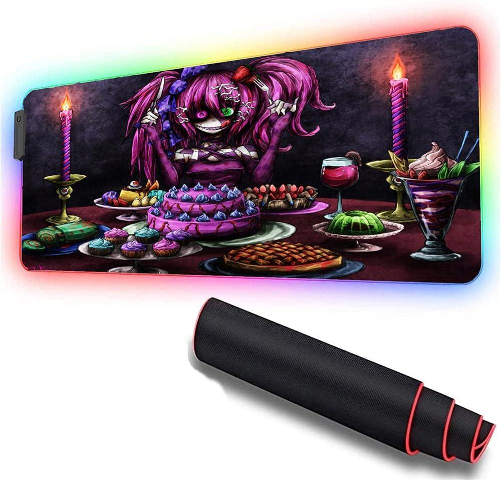 Gaming Mouse Pads Purple RGB Anime unisex Large Pad C Girl Surprise price