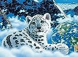 UYRT Puzzle de Madera 1000 Piezas White Tiger Puzzle de Madera Juegos de Rompecabezas de Madera IQ Challenge Toy Juego Mental Juego de Regalo para niños y Adolescentes