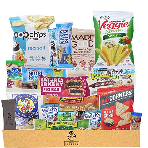 Healthy Snacks Care Package (20 Count Variety Snack Pack) Assortment of Nuts, Bars, Healthy Chips...