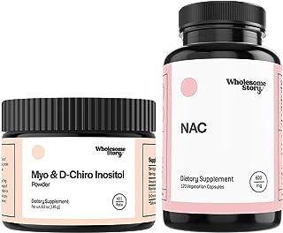 Myo & D-Chiro Inositol Powder (90-Day Supply) + NAC | Hormone Balance, Healthy Ovarian Function, Fertility & Mucolytic Sup...