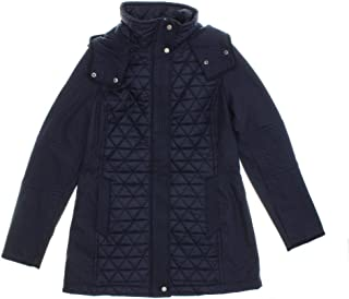 Marc New York by Andrew Marc Womens Quilted Hooded Jacket (X-Large, Navy)
