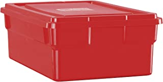 Childcraft Storage Box with Lid - 16 x 11 x 6 inches - Red