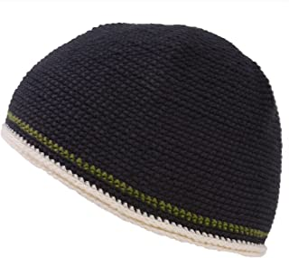 Mens Skull Cap Cotton Kufi Beanie Hand Made Knitted Hat Elastic Tight Japanese
