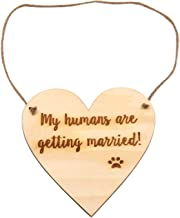 LParkin Engagement Photo Prop Dog Sign - My Humans are Getting Married