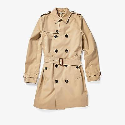 Burberry Kids Mayfair Coat (Big Kids) (Honey) Girl