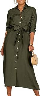 button down dress long