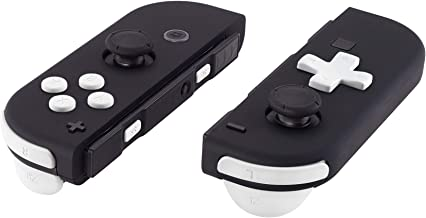 Soft Touch White D-pad ABXY Keys SR SL L R ZR ZL Trigger Buttons Springs, Replacement Full Set Buttons Fix Kits for Nintendo Switch Joycon (D-pad ONLY Fits for eXtremeRate Joycon D-pad Shell)