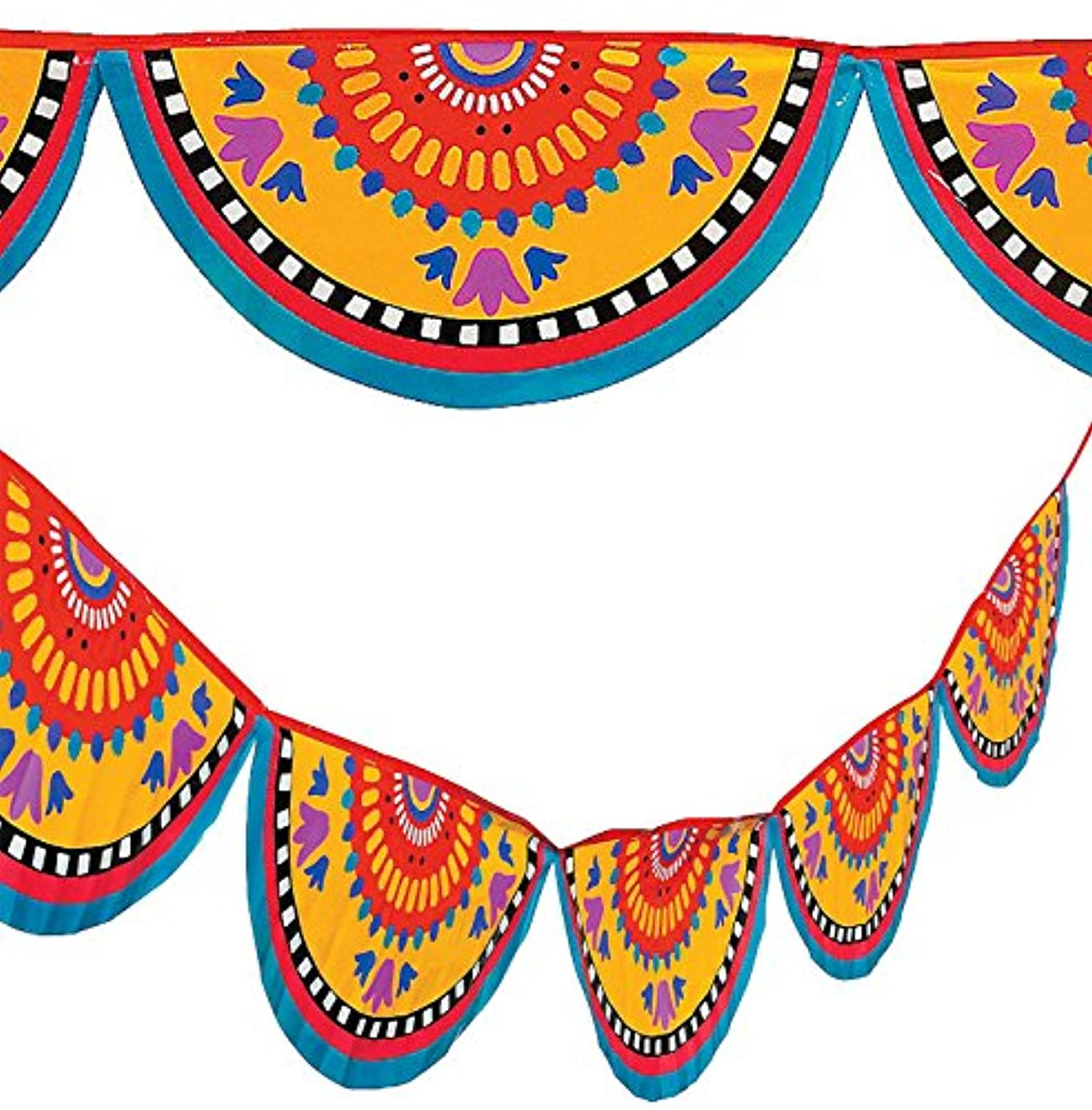 48 Ft Mexican Bunting Banner Cinco de Mayo Fiesta Party Garland Decor 2-24'