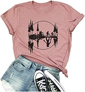 Womens Stranger Things T-Shirt Vintage Upside Down Retro 80s Novelty Funny Graphic Tees