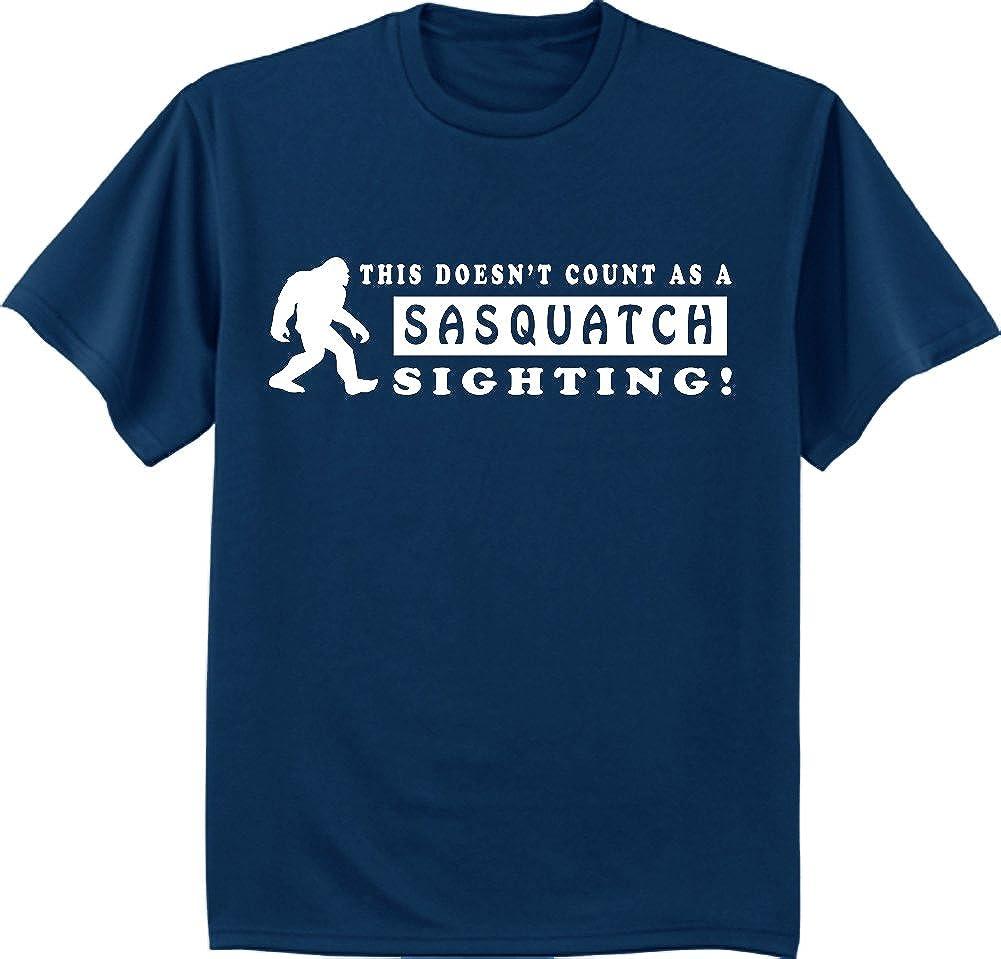 Big and Tall Funny Shirt Sasquatch yeti Bigfoot Decal tee