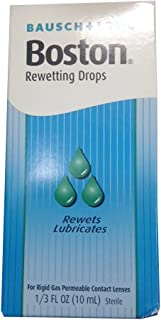 Boston Rewetting Drops for Rigid Gas Permeable Contact Lenses - 0.33 Ounce, 2 Pack