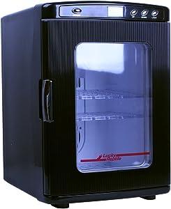 JCOCO Mini Fridge 25L Dual-core Mute CNC Display Reefer Cooler Box (Home Office And Car Use) (color : BLACK)