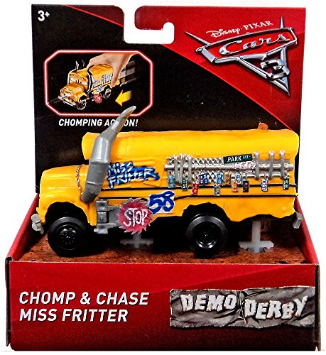 Miss Fritter Chomp and Chase 6 Yellow School Bus Demo Derby Cars 3 Disney Pixar