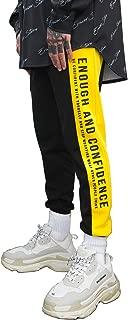 Stripe Track Pants Casual Athletic Jogger Hip Hop Drawstring Pants Side Striped Color Unisex